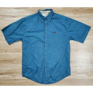 Carhartt Mens S132 Work Wash Twill Blue Shirt M